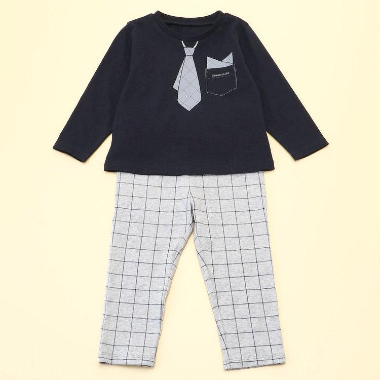 COMME CA ISM/コムサイズム 長袖Tシャツと10分丈パンツが入ったギフトセット